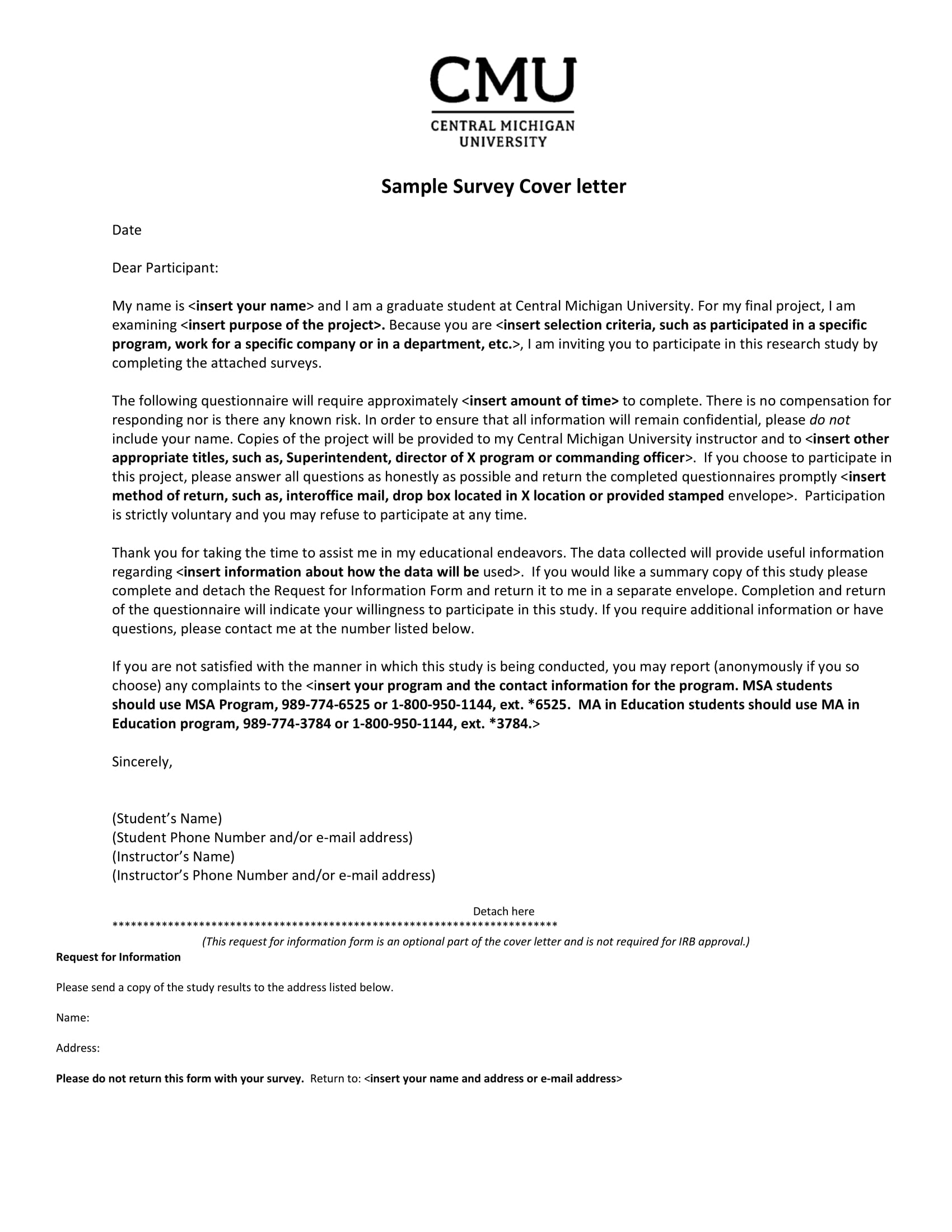 sample survey cover letter 1