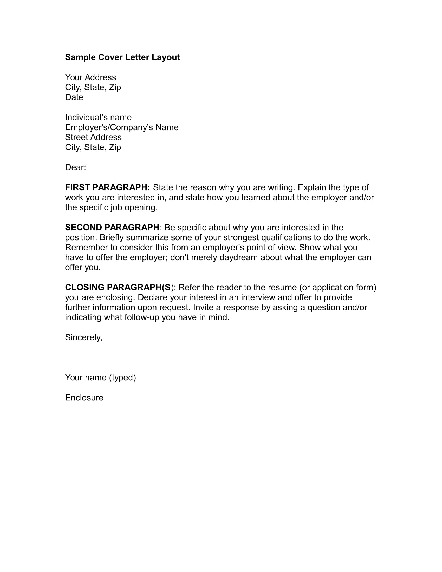 19 job application letter examples word cover letter layout example spiritdancerdesigns Image collections