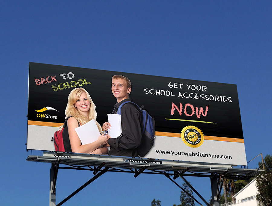 school billboard design example