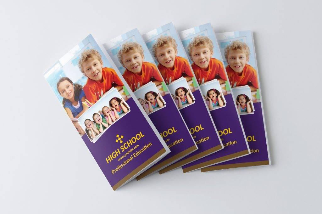 school trifold brochure design example