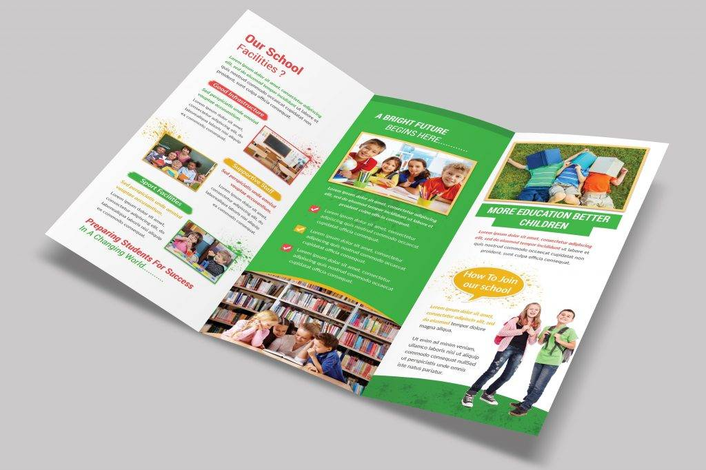 school trifold brochure example