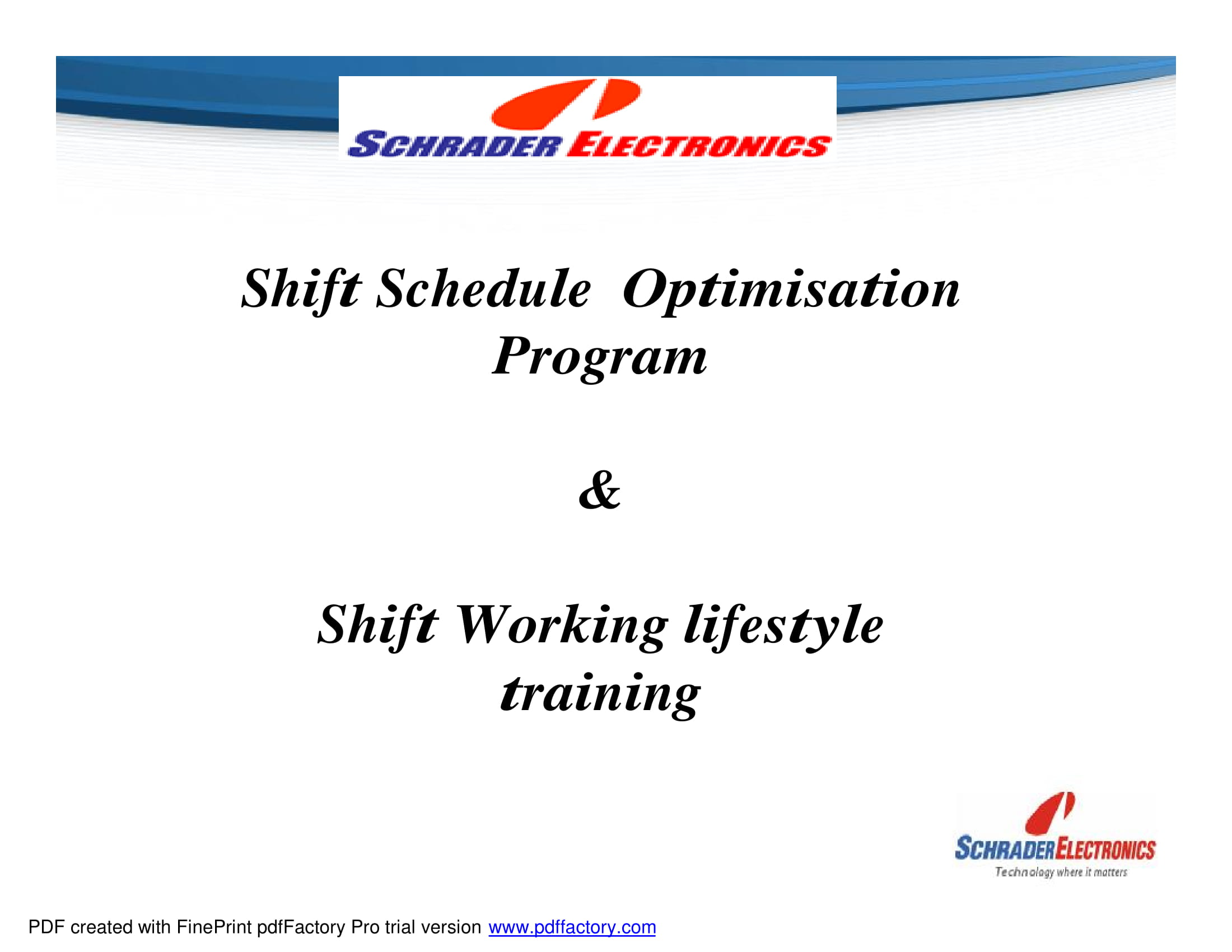 shift work life style training 01