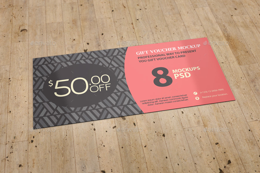 shopping voucher card example