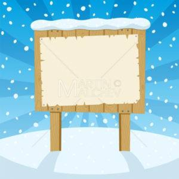 sign and snow vector design