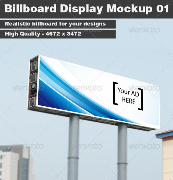 simple billboard display mock up example