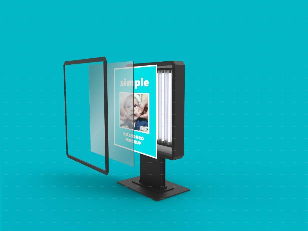 simple billboard mock up design
