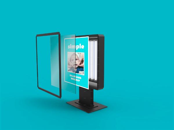 simple billboard mock up example