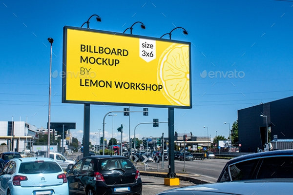 simple billboard mock up for advertising example