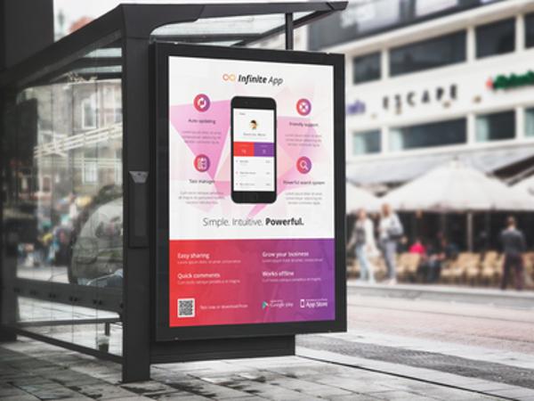 simple bus stop billboard example