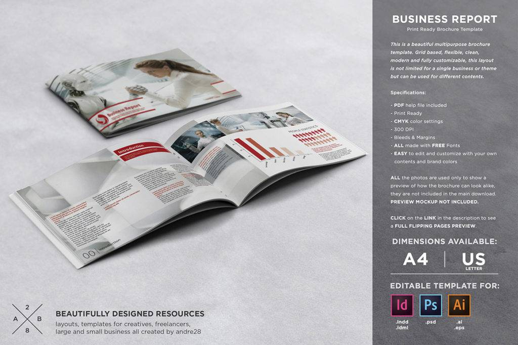 simple business report template