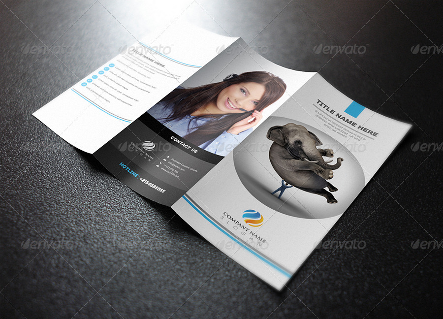 simple clean trifold brochure template design