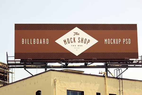 simple earthen billboard mock up example