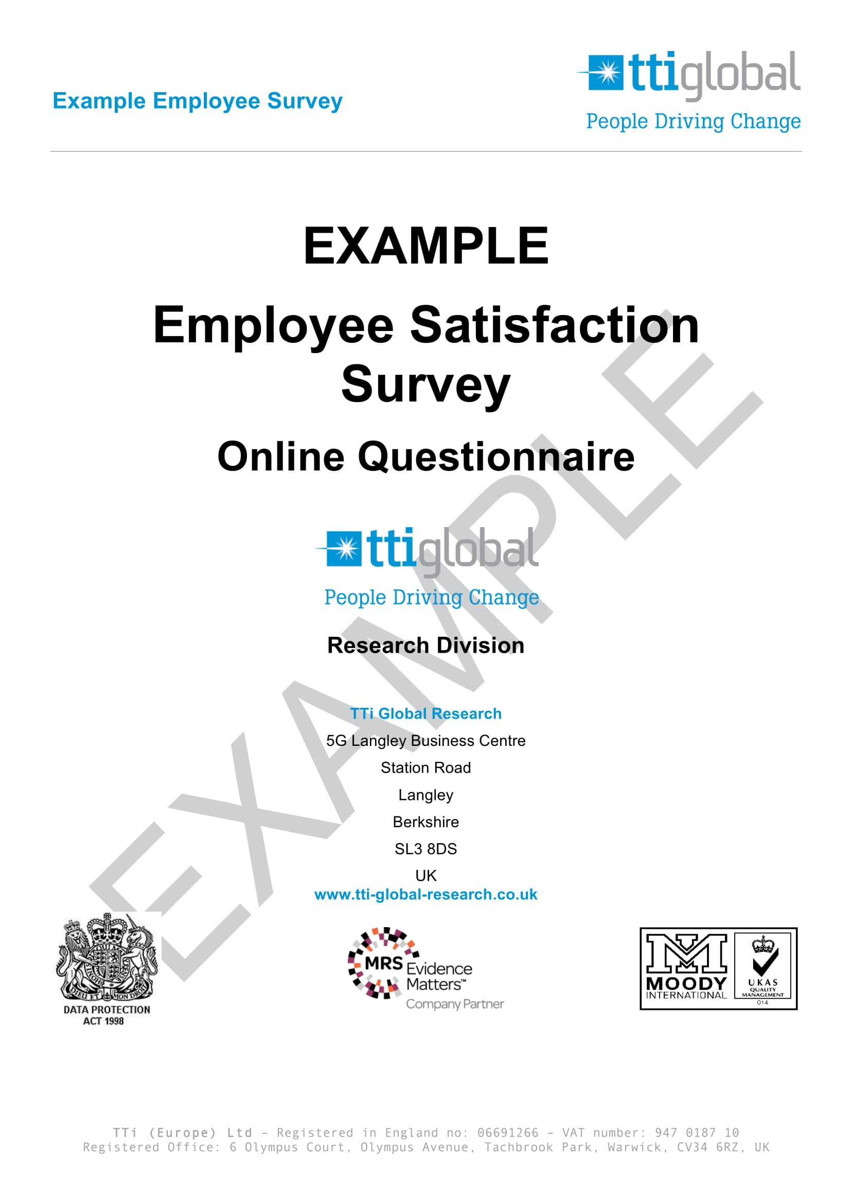 simple employee satisfaction survey form example