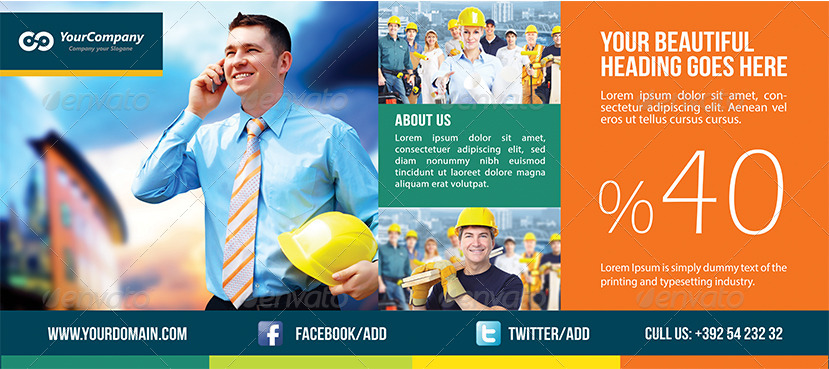 simple multipurpose business billboard template
