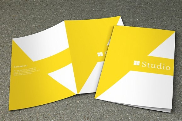 simple photography bifold brochure