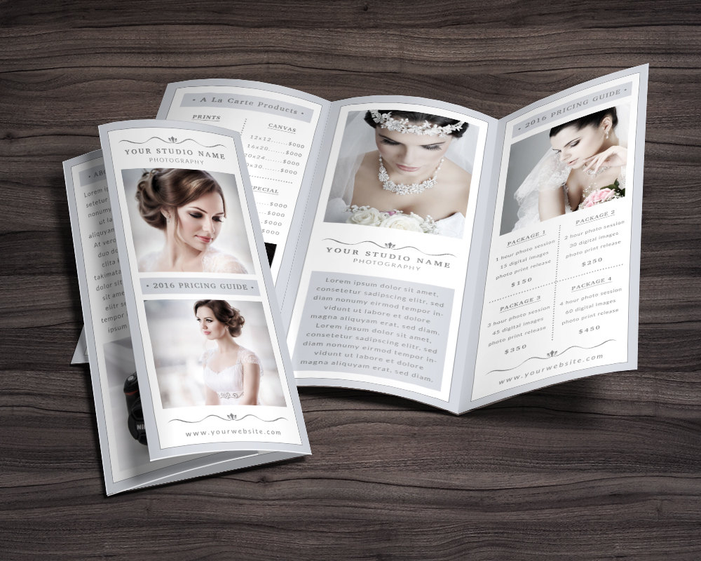 simple photography tri fold brochure template