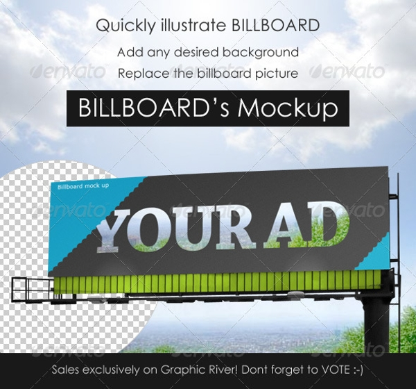 simple professional billboard mock up example