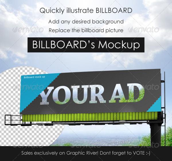 simple professional billboard mock up example