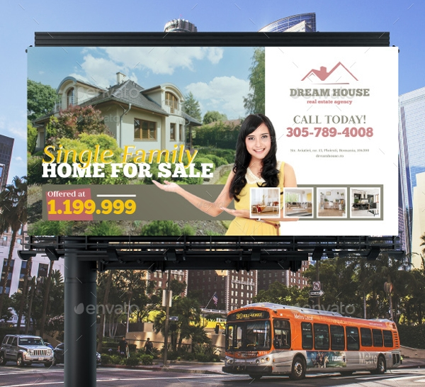 simple real estate billboard banner example