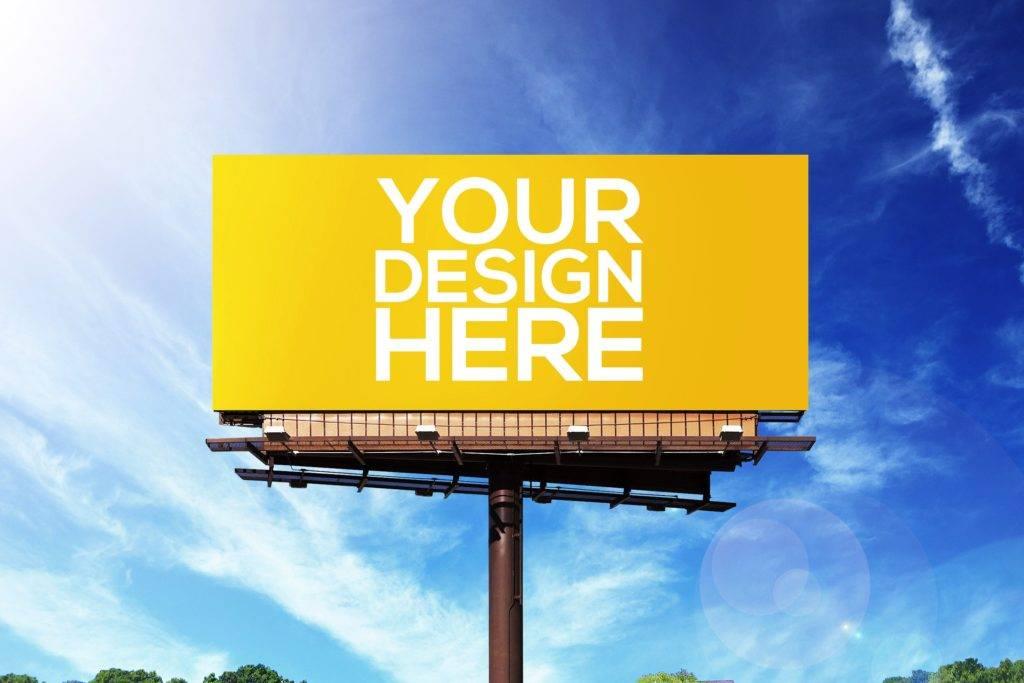 simple realistic billboard mock up