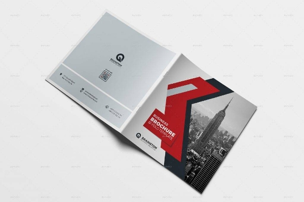 simple square brochure