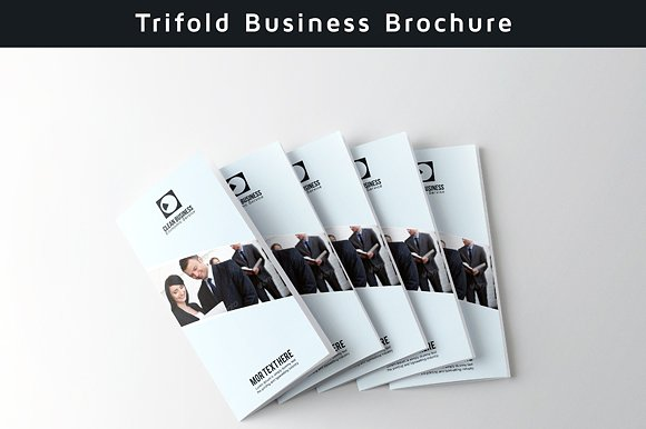 simple trifold clean brochure