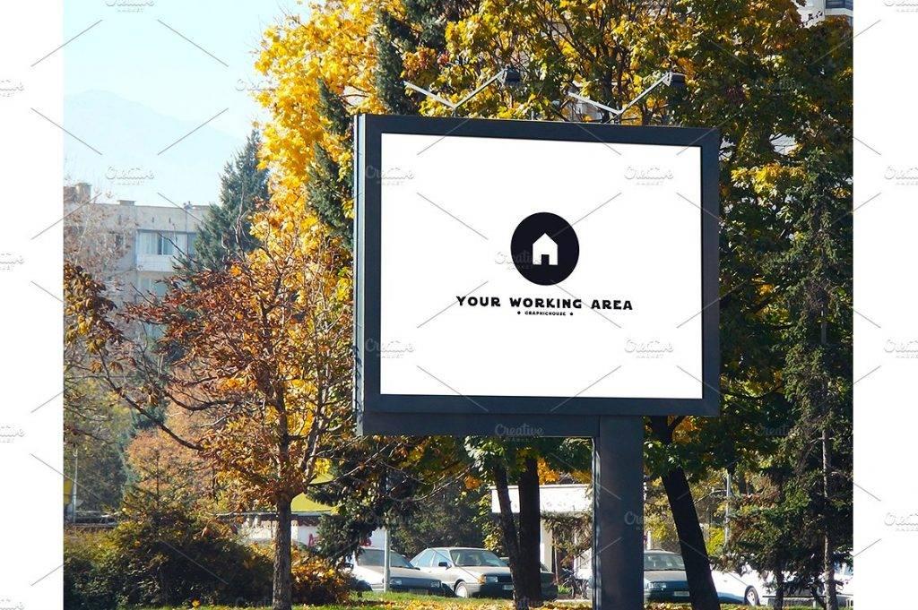 simple urban billboard mock up