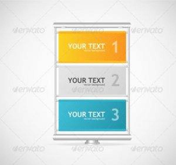 simple vector vertical billboard
