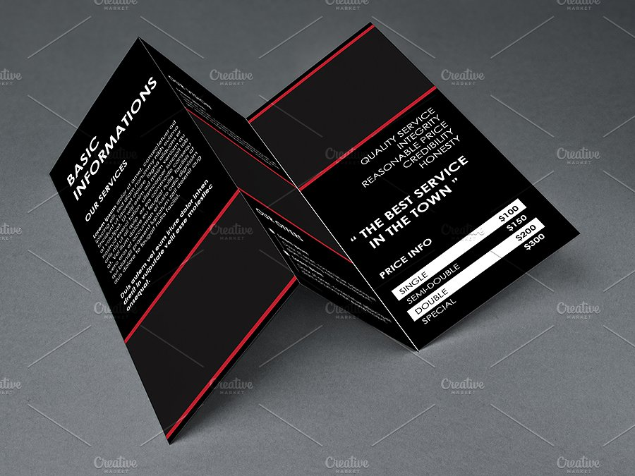 simple and clean trifold brochure