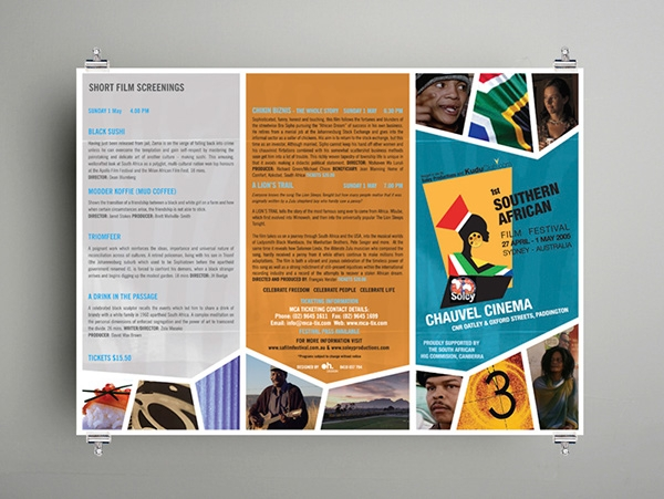 southern african film festival brochure