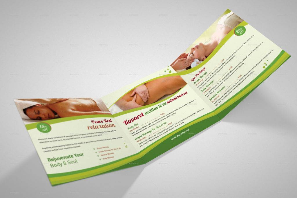 spa package tri fold brochure example
