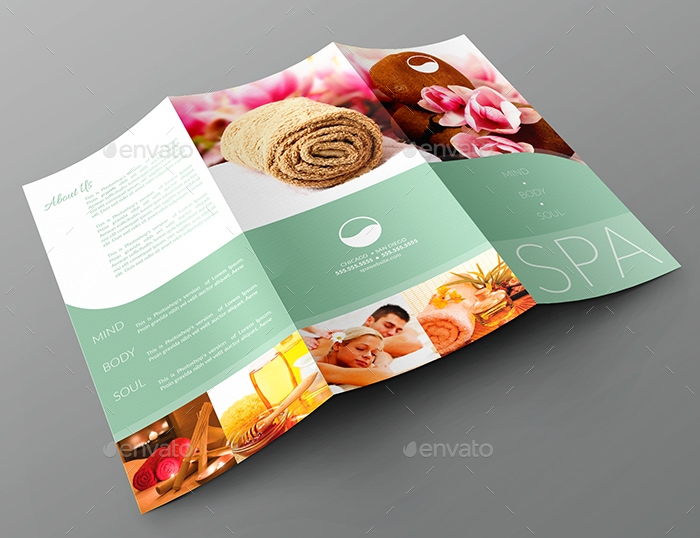 spa tri fold brochure example