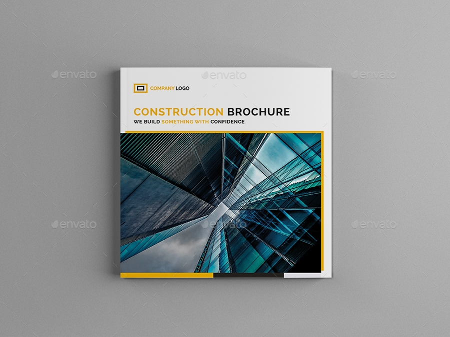 square construction brochure example