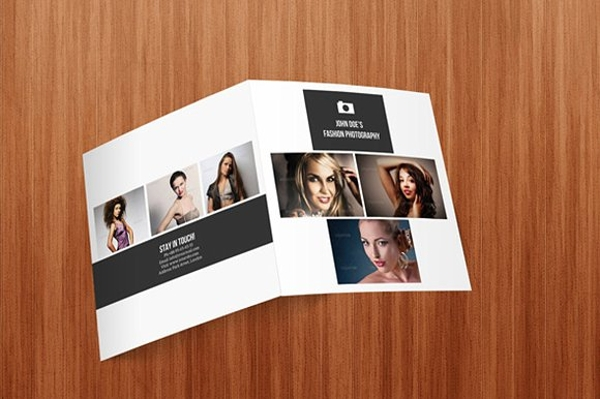 square photography bifold brochure