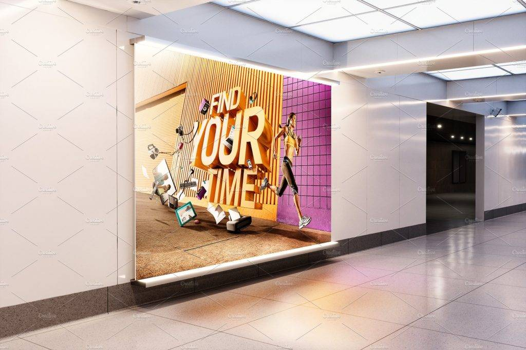 station billboard design example