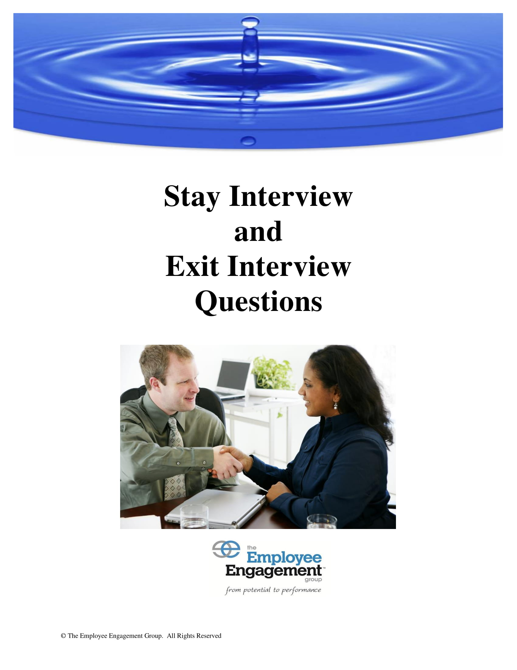 stay interview and exit interview questions
