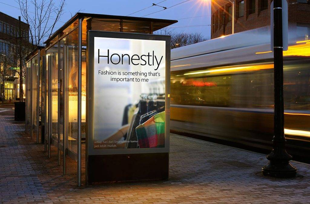 street billboard mock up