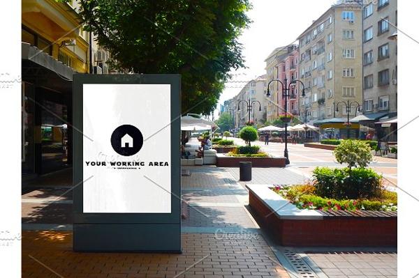 street billboard mock up example
