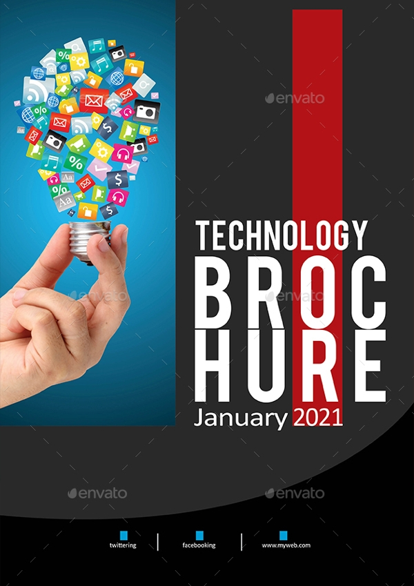 technology brochure catalog design