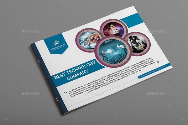 technology company brochure design