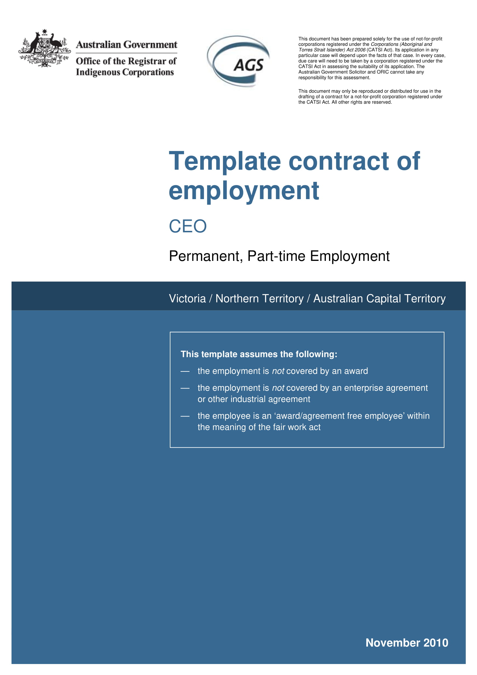 template contract of employment