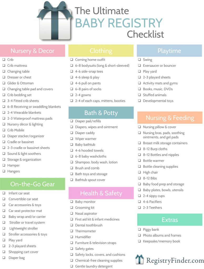 the ultimate baby registry checklist sample1