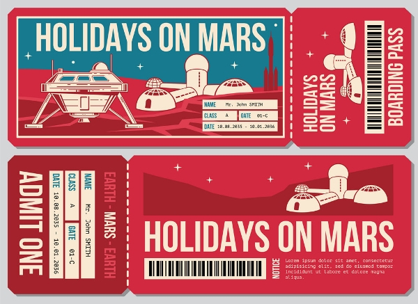 travel ticket voucher example