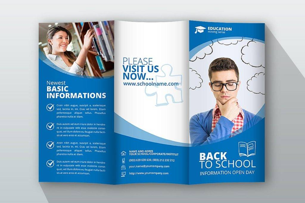 trifold back to school brochure example