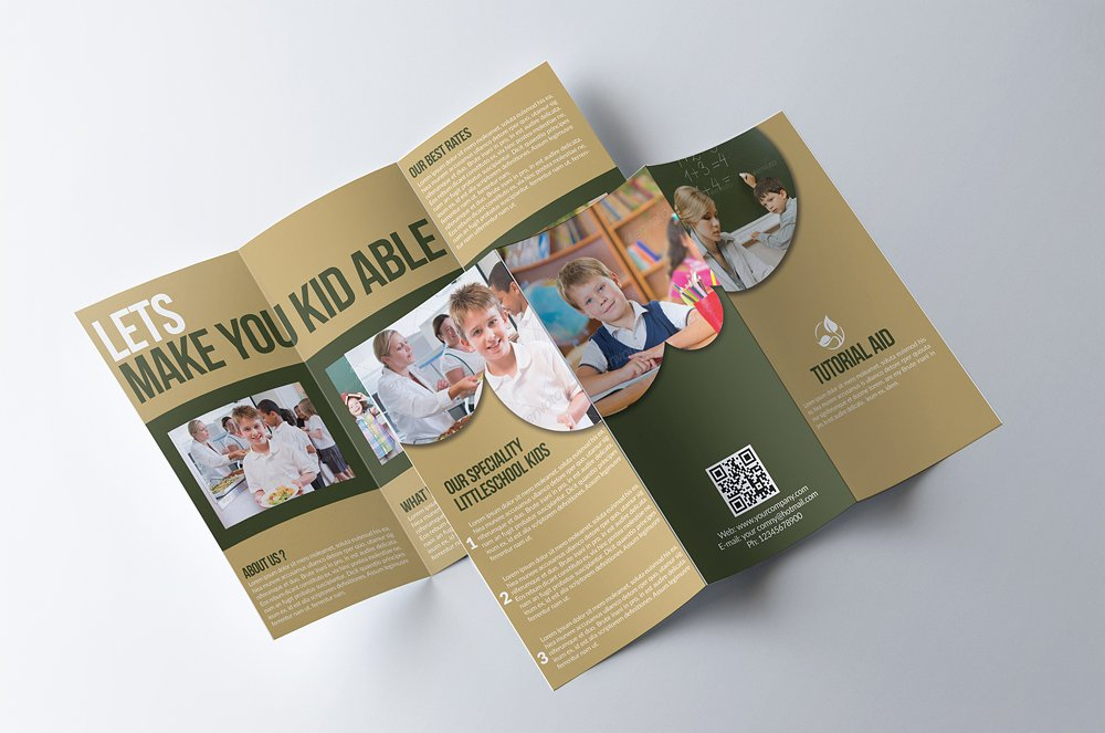 trifold education brochure example