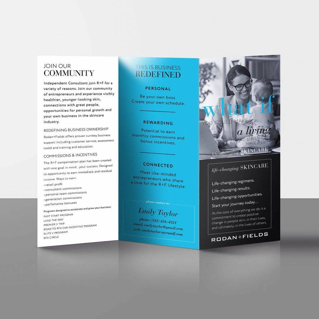 two sided rodan fields consultant build business brochure1