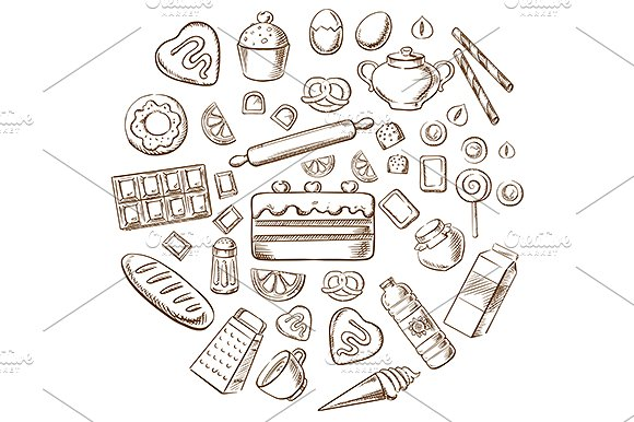 vector bakery images example