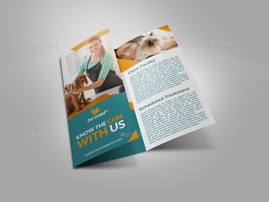veterinarian clinic dog show brochure example
