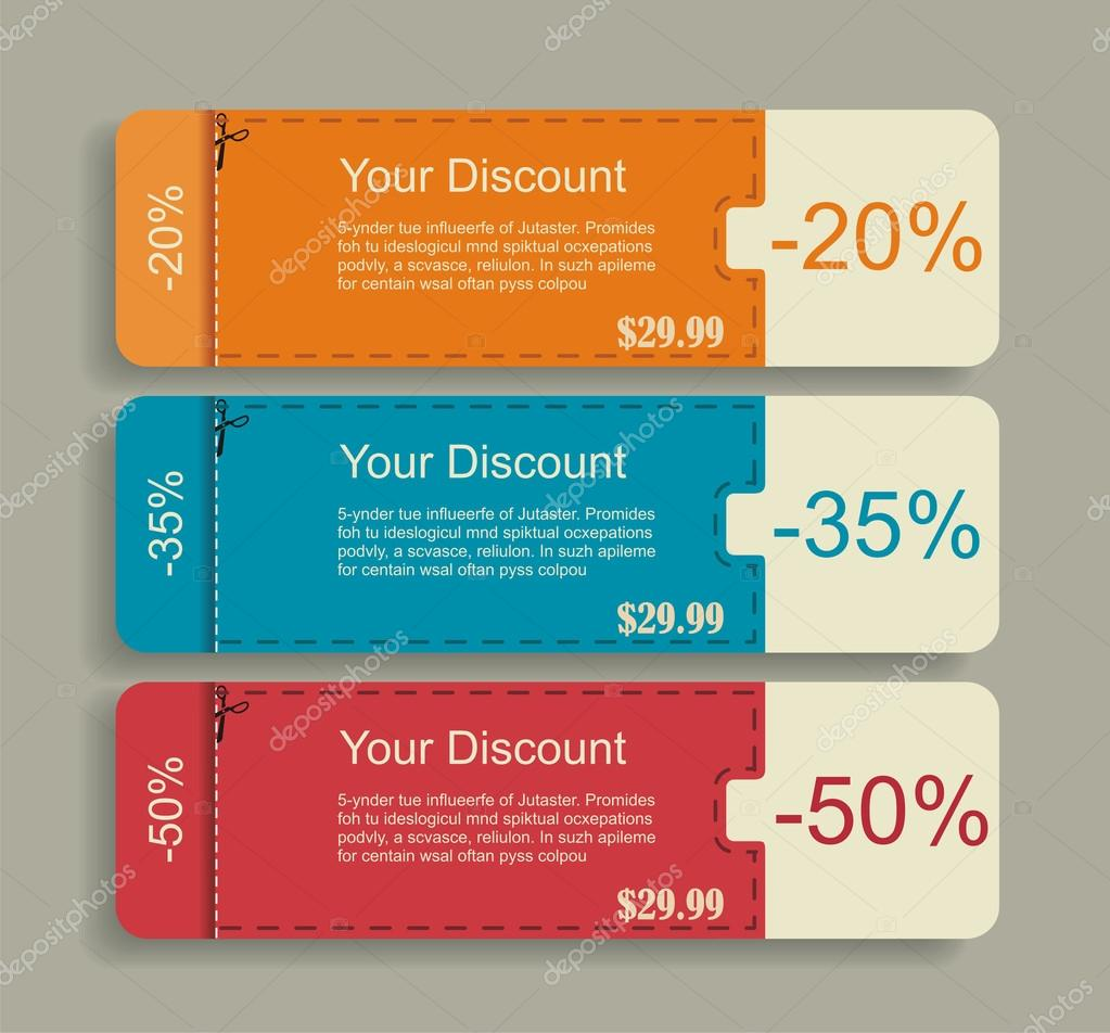 vintage labels template set sale and discount theme