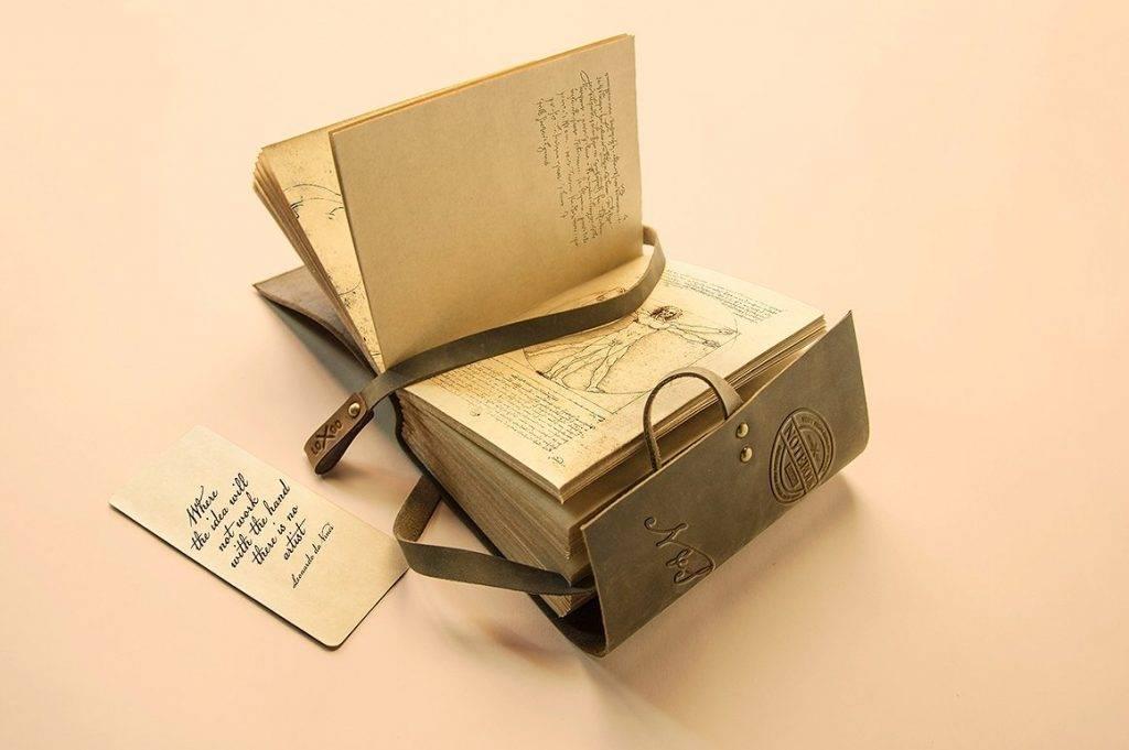 vintage notebook mock up design
